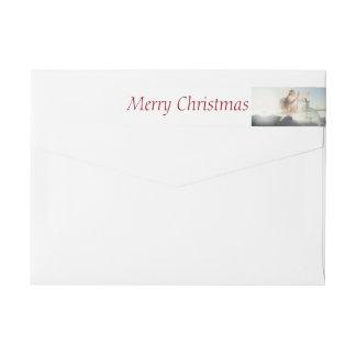 Original Christmas Photo Wrap around Label