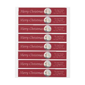 Original Christmas Photo Wrap around Label | RED