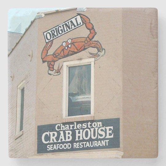 Original Crab House Charleston, SC. Coaster Stone Beverage