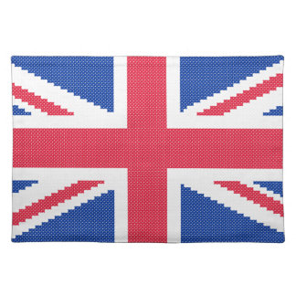 Original cross-stitch design Union Jack Placemat