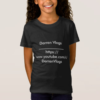 ORIGINAL Darren Vlogs T-shirt Large Girls