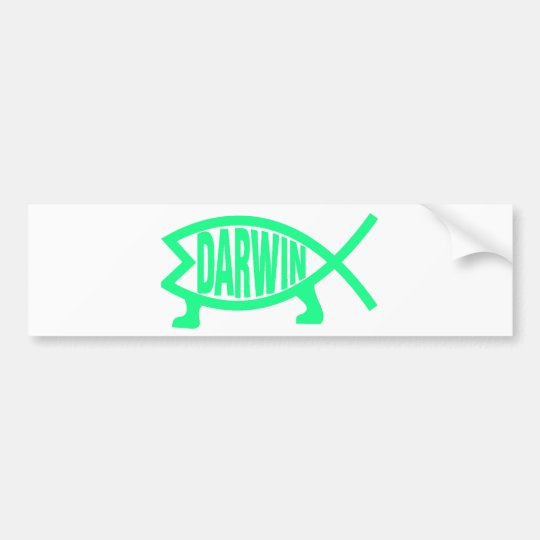 Original Darwin Fish (Seafoam) Bumper Sticker