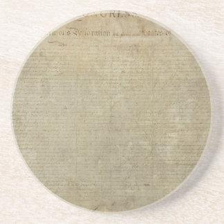 Original Declaration of Independence Coasters