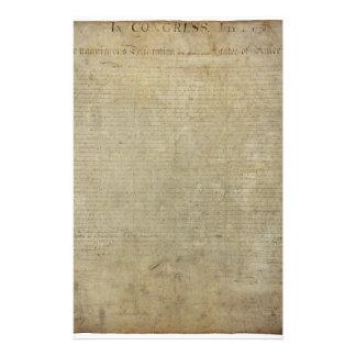 Original Declaration of Independence Stationery