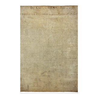 Original Declaration of Independence Stationery Paper