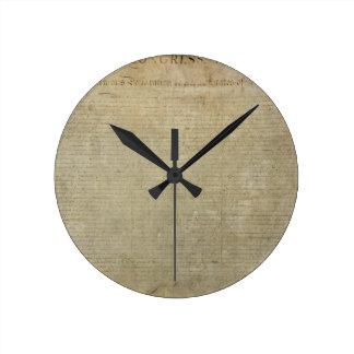 Original Declaration of Independence Wall Clocks