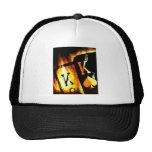 ORIGINAL DESIGN FLAMING POCKET KINGS POKER ART HAT
