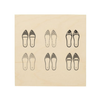 Original design with stylish Shoes Wood Prints