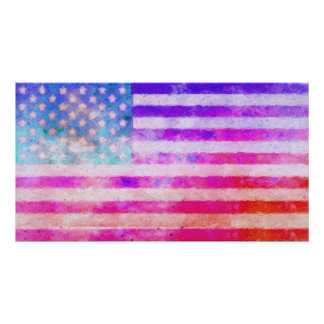 Original digital painting of the American flag. Poster