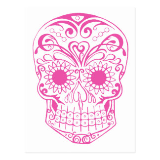 Original Drawn By Artist Sugar Skull Postcard