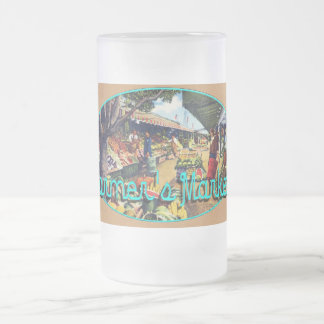 Original Farmer's Market, Hollywood, California 16 Oz Frosted Glass Beer Mug