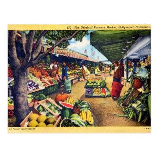 Original Farmer's Market, Hollywood, California Postcard