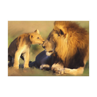 Original Father and Son Canvas Print