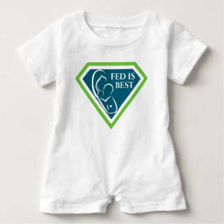 Original Fed is Best Logo Baby Romper w/ Snaps Baby Bodysuit
