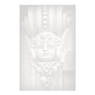 Original Fine Art Photo Gothic Cherub Carving Custom Stationery