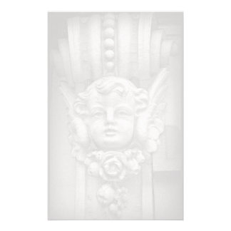 Original Fine Art Photo Gothic Cherub Carving Stationery Paper