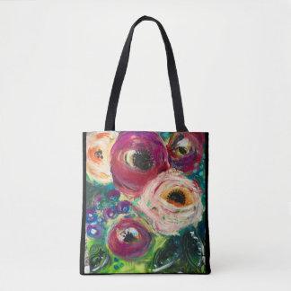 Original Floral Art Tote Bag by Sheryl Amburgey