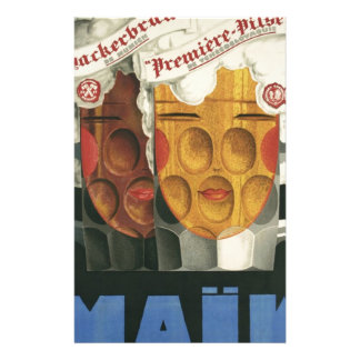 original French beer Art Deco Poster 1929 Stationery