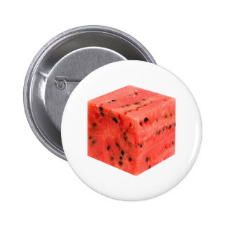 Original Fresh Sweet Red Watermelon Food Cube 6 Cm Round Badge