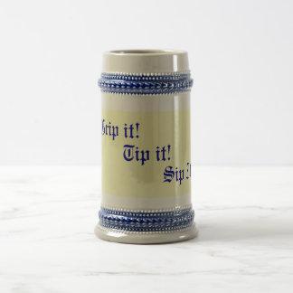 original fun drinking slogan text beer steins