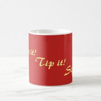 original fun rhyming text drinking slogan coffee mug