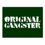 Original Gangster Postcard