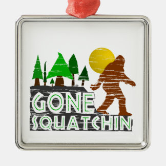 Original Gone Squatchin Design Christmas Ornament