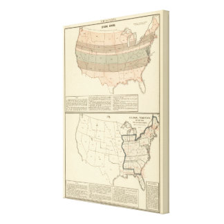 Original grants of 1776 settled area canvas print