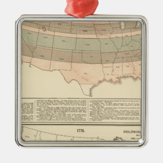Original grants of 1776 settled area christmas ornament