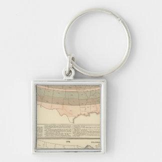 Original grants of 1776 settled area key ring
