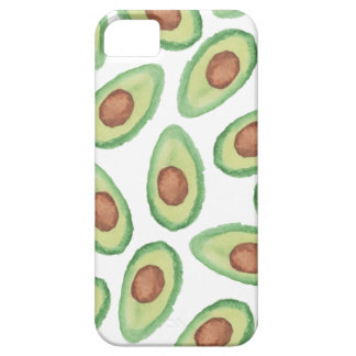 Original green brown watercolor avocado pattern iPhone 5 case