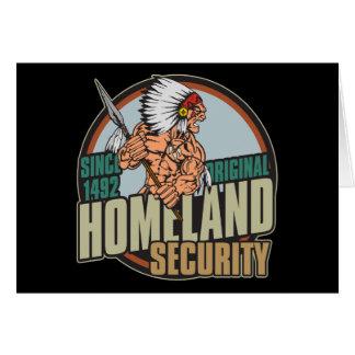 Original Homeland Security Greeting Card