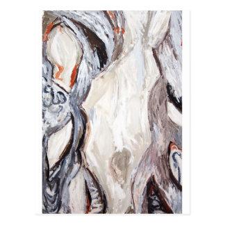 Original Human Mold (abstract expressionism) Post Card