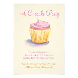 Original Illustration Cupcake Invitations
