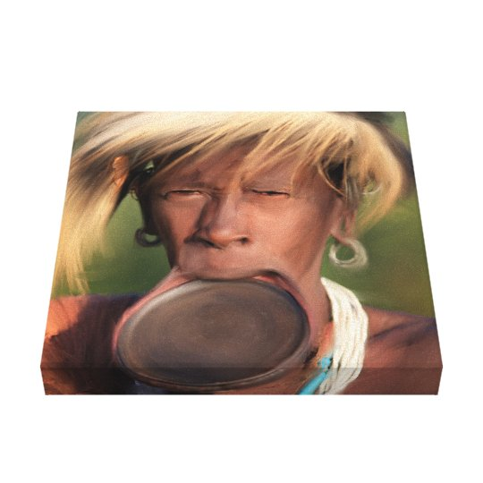 Original Kenyan Man With Disc Printed Canvas