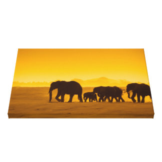 Original Leading The Herd Canvas Print
