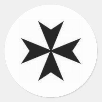 Original Maltese Cross Classic Round Sticker