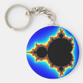Original Mandelbrot Set 03 - Fractal Basic Round Button Key Ring