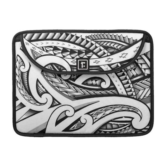 Original Maori tribal tattoo design with shading MacBook Pro Sleeves