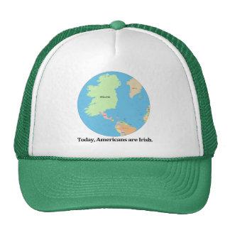 "Original map: ""Today, Americans are Irish"" Hat"