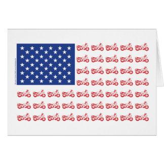 original-Motorcycle-Flag- Greeting Card