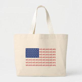 original-Motorcycle-Flag- Large Tote Bag