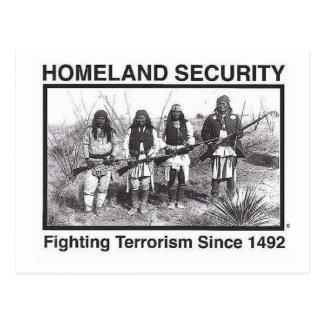 Original Native American Homeland Security T-Shirt Postcard