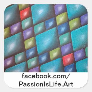 Original Painting: Harmony In Blue Square Sticker