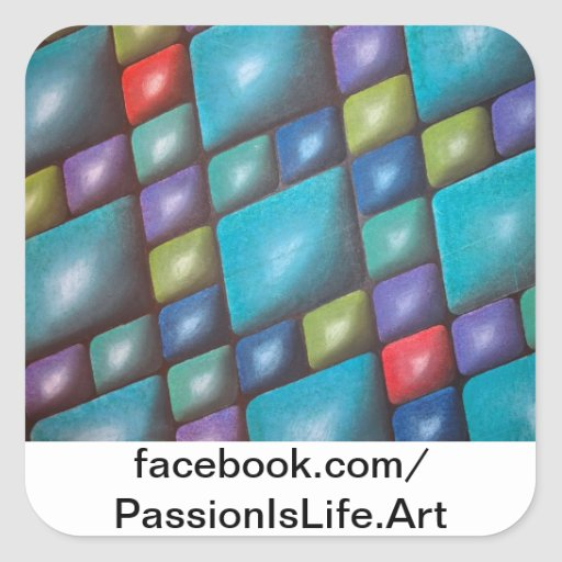 Original Painting: Harmony In Blue Square Stickers