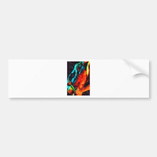 Original Painting - Torso Heat Bumper Sticker