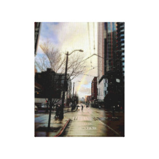 Original Peace Pike & Pine Rainbow in Seattle Canvas Print