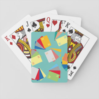 original & personalized initials, colorful poker deck