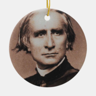 Original photo of Liszt, virtuoso pianist Round Ceramic Decoration