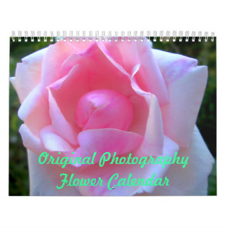 Original Photography Flower Calendar